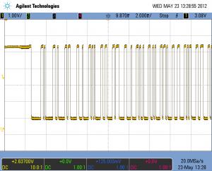 Пример скриншота с осциллографа Agilent MSO7034 в формате png
