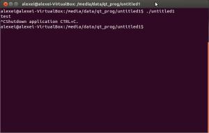 Завершение консольной программы Qt в терминале Ubuntu